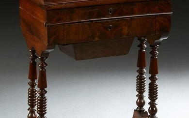 French Louis Philippe Carved Mahognay Dressing Table