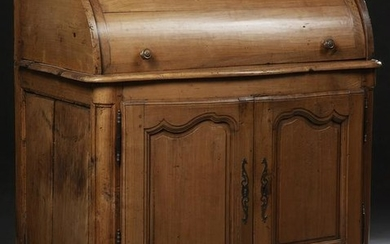 French Louis XV Style Carved Cylinder Secretary, 19th
