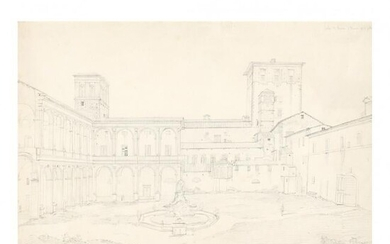 French School (19th Century), Interior Courtyard of