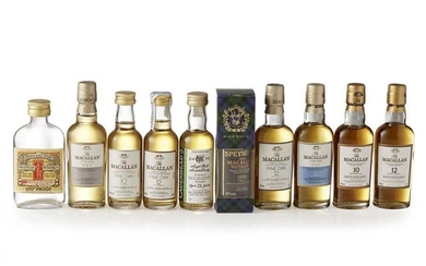 GROUP OF THE MACALLAN MINIATURES