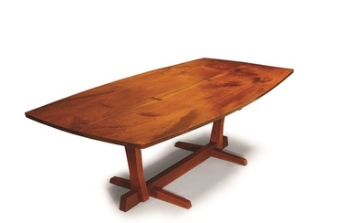 """George Nakashima (American, 1905-1990) A Fine """"Conoid"""" Dining Table,..."""