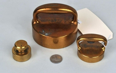 Group Three Brass Scale Weights