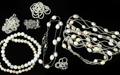 Group of Sterling Silver & Baroque Pearl Jewelry