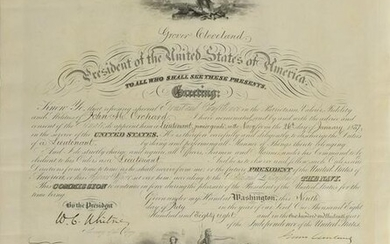 Grover Cleveland Document Signed