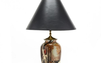 Hunt Scene Decorated Table Lamp