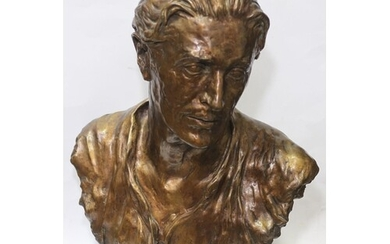 Ivor Novello, early/mid 20th portrait bust, patinated bronze...