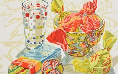 "Janet Fish ""Still Life with Candy"" Lithograph"