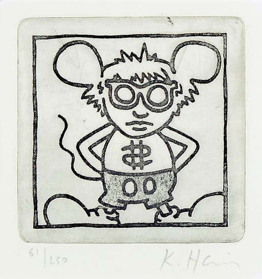 Keith Haring, 1958- 1990, etching on hand-madepaper,...