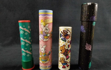Lot of 4 Late 90s to Early 2000s Children Kaleidoscopes
