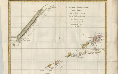 MAP, New Caledonia & New Hebrides, Cook