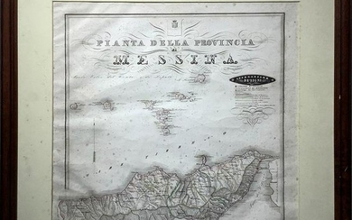 """Map of the province of Messina, 1844, administrative"