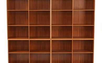 Mogens Koch: A mahogany wall unit, consisting of four bookcases. Made by Rud. Rasmussen. H./W....