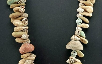 Necklace w/ Sumer Shell & Faience, Roman Bone & Pottery