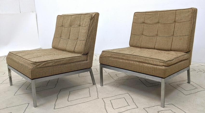 Pair Florence Knoll Lounge Chairs. Model no. 65