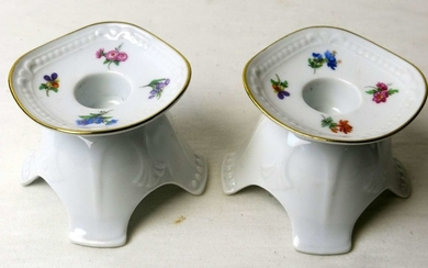Pair of German Porcelain Candlesticks made by Mitterteich