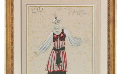 Roger Chapelain-Midy (French, 1904-1992), Costume design for Ginevra