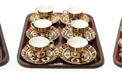 Royal Crown Derby Imari pattern tea and coffee wares, including...
