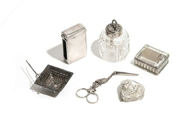 SIX PIECES OF ASSORTED SILVER, 103g