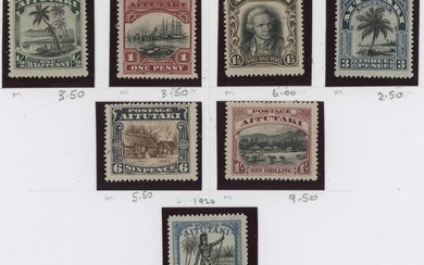 SMALLER PACIFIC ISLANDS: Album leaves with the KGV-early QEI...