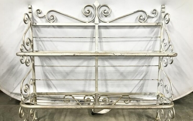 Silver Toned Metal Wall Mount Planter Shelves