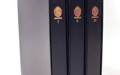 THREE STANLEY GIBBON'S GREAT BRITAIN LUXURY STAMP ALBUMS volumes...