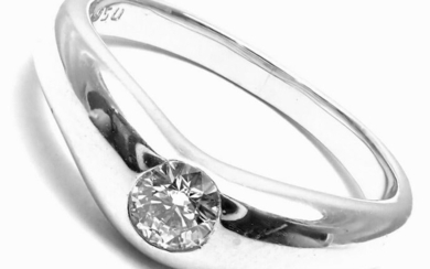 TIFFANY & Co. PLATINUM PERETTI DIAMOND 0.18ct BAND RING