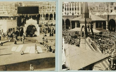 TWO PHOTOGRAPHS OF THE KABAA, EARLY 20TH CENTURY