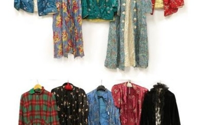 Ten Assorted Circa 1930's and Later Brocade Jackets and Robes,...