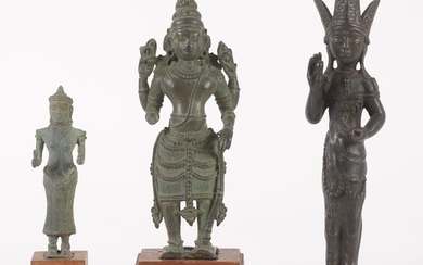 Three Asian Bronze Figures, 12th Century and later FR3SHLM