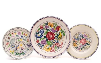 Three Poole Pottery dishes: decorated after a design by Trud...