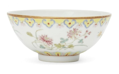A Chinese porcelain bowl, 20th century, painted...
