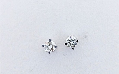 18 kt. White gold - Earrings - 0.17 ct Diamond