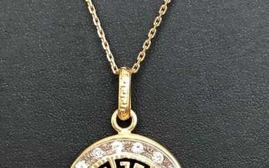 18 kt. Yellow gold - Necklace with pendant - 1.00 ct Diamond