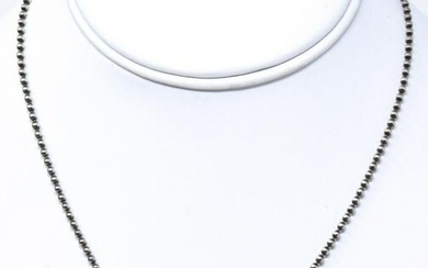 18kt Yellow Gold & Sterling Silver Heart Necklace