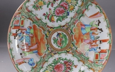 19th C Chinese Rose Medallion Charger Plate