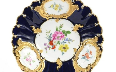19th century Meissen porcelain plate, hand painted with