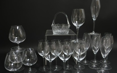 20 Clear Glasses, incl. Riedel, Orrefors