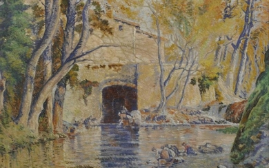 20th Century French School. A River Landscape, with