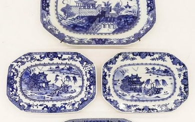 4pc Chinese 18th Cent. Export Porcelain Platters 10''