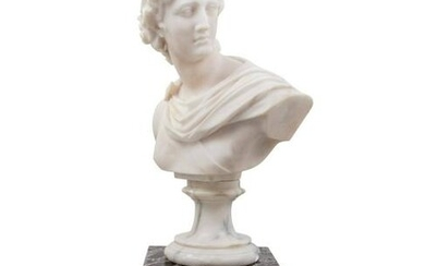 A Continental Marble Bust of Apollo Belvedere