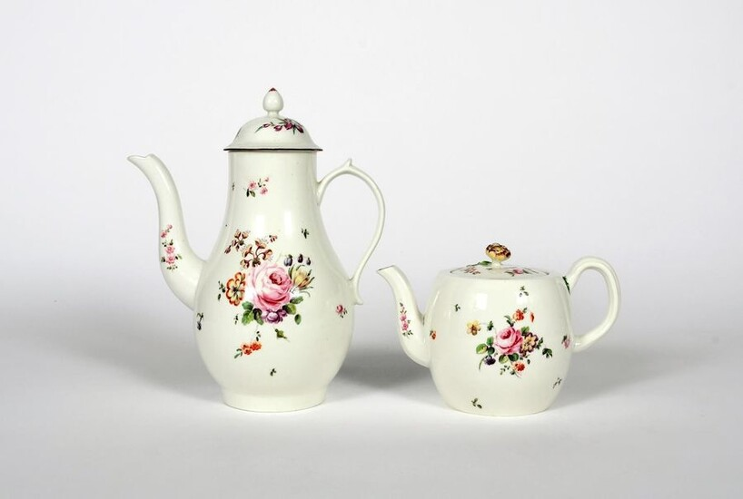 A Derby coffee pot and cover and a...