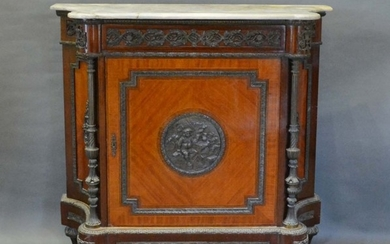 A French Kingwood and Gilt Metal Mounted Credenza Cabinet, t...