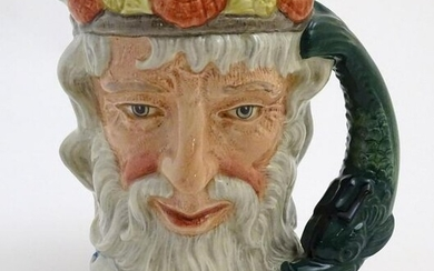 A Royal Doulton character jug formed as Neptune, model
