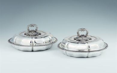 A pair of George IV silver dishes made for Pr ...