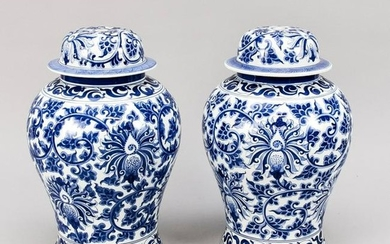 A pair of large lidded va