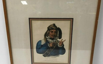 ANTIQUE LITHOGRAPH AFTER KING: JTCHO TUSTINNUGGEE