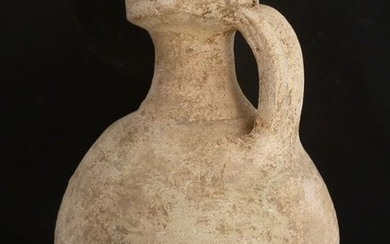 Ancient Roman Pottery (a100) jar with crease trim - 20×14×0 cm - (1)