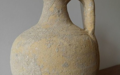 Ancient Roman Terracotta jug with a handle - 19×12×12 cm