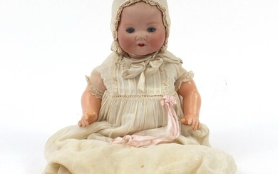 Armand Marseille bisque headed doll with composite limbs, nu...