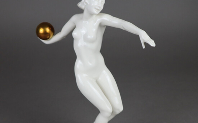"CARL WERNER. ""Ball player"", porcelain figure, Hutschenreuther."